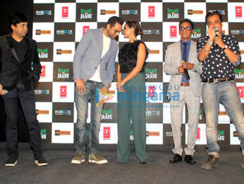 Abhay Deol and Patralekha grace the trailer launch of the film Nanu Ki Jaanu