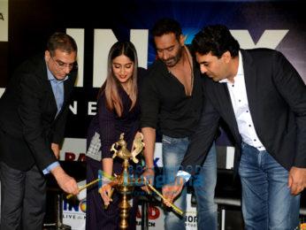 Ajay Devgn and Ileana D'cruz launch the first INOX Laserplex theatre in Delhi