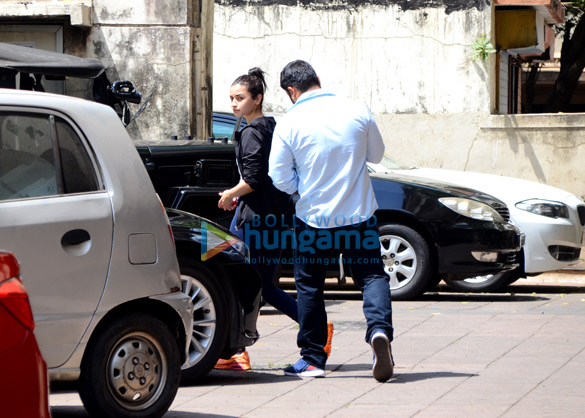 Alia Bhatt spotted at the gym in Bandra