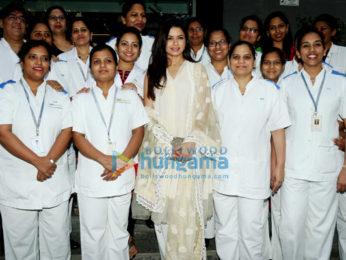 Bhagyashree snapped at Hinduja Hospital