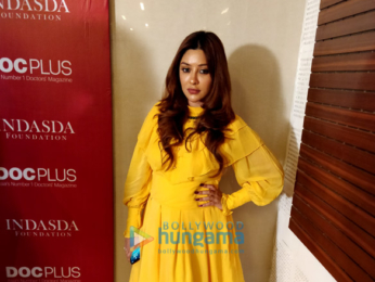 Bhagyashree snapped celebrating Women's Day at Hinduja Healthcare Surgical