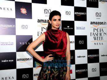 Diana Penty, Shyamal and Bhumika snapped at the Amazon Fashion Week