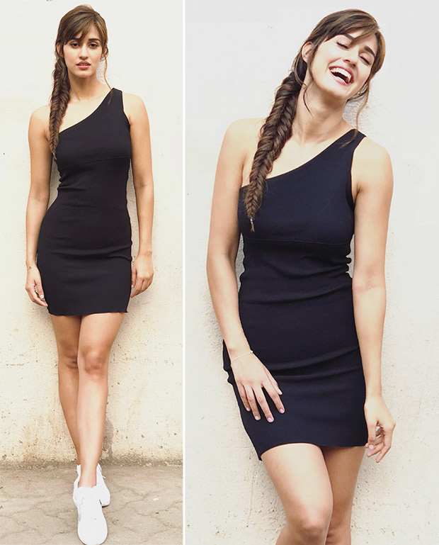 Disha Patani for Baaghi 2 promotions looks chic in black