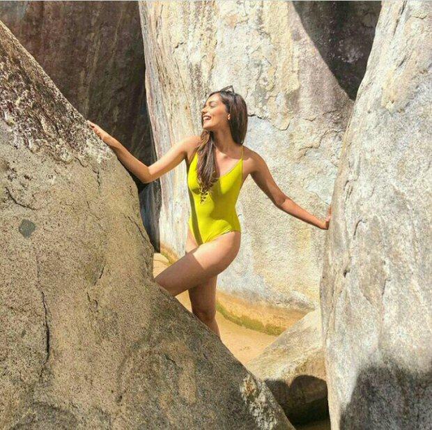 HOTNESS: Manushi Chhillar raises the temperatures in her swimsuit photos