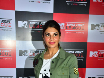 Jacqueline Fernandez snapped at the MTV Super Fight League launch