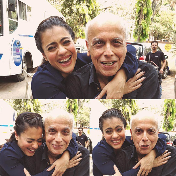 Kajol and Mahesh Bhatt share fun moments on the sets of Eela