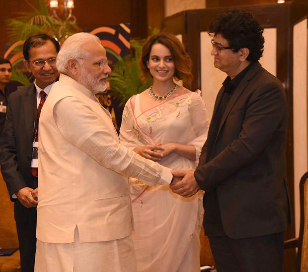 Kangana Ranaut and CBFC Chief Prasoon Joshi meet PM Narendra Modi