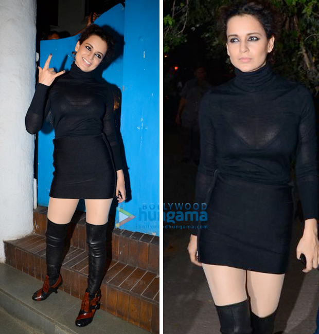Kangana Ranaut gives style tips to ace an all-black look