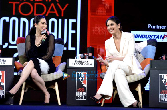 Kareena Kapoor Khan and Karisma Kapoor at India Today Conclave 2018