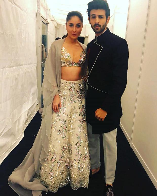 Kareena Kapoor Khan and Kartik Aaryan strike a pose