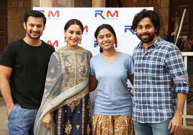 Madhuri Dixit kicks off her first Marathi production 15th August