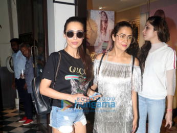 Malaika Arora and Amrita Arora spotted at Bastian in Bandra