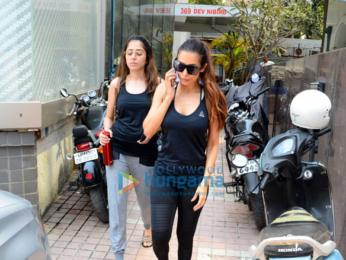 Malaika Arora snapped at the gym in Bandra