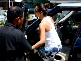 Malaika Arora spotted at the gym in Bandra