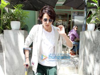 Mandana Karimi spotted at The Kitchen Garden in Bandra