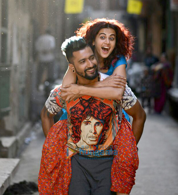 Manmarziyaan First Look: Vicky Kaushal and Taapsee Pannu are the happy couple and Abhishek Bachchan is the brooding Sardar
