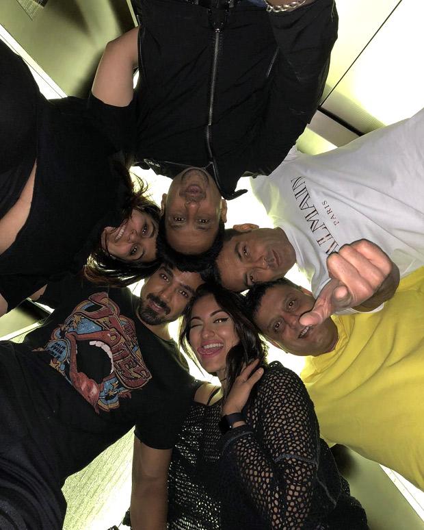 PHOTO ALERT: Sonakshi Sinha shoots for Race 3 with Bobby Deol and Saqib Saleem