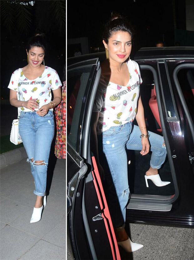 Priyanka Chopra on a dinner date with Arpita Khan