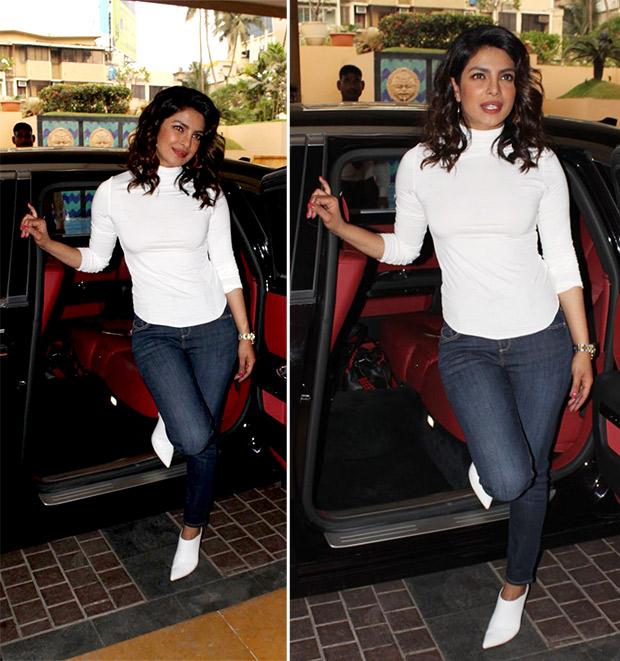 Priyanka Chopra sleek in an all-white look