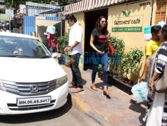 Rakul Preet Singh spotted outside a cafe in Bandra
