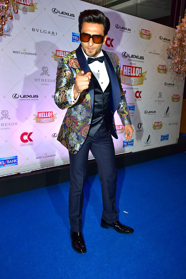 Ranveer Singh shows off beat boxing skills after winning Entertainer of the Year at Hello! Hall of Fame Awards