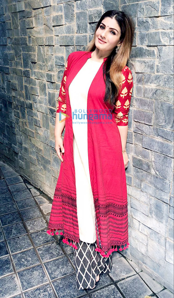 Raveena Tandon snapped attending a Women's Day event
