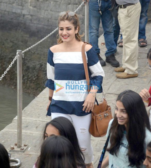 Raveena Tandon snapped with her daughter at Gateway
