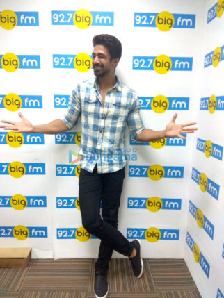 Saqib Saleem snapped promoting his film Dil Juunglee