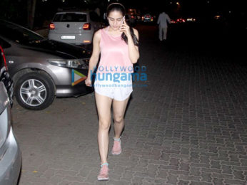 Sara Ali Khan spotted at the gym