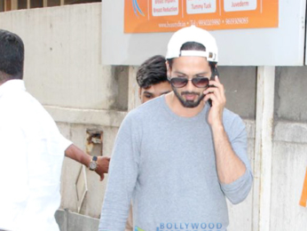 Shahid Kapoor and Mira Rajput spotted outside a clinic