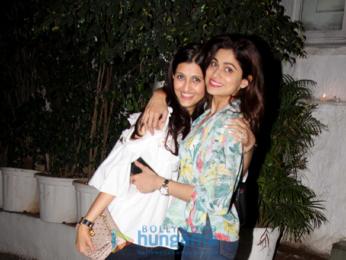 Shamita Shetty and Jackky Bhagnani snapped at Olive in Bandra