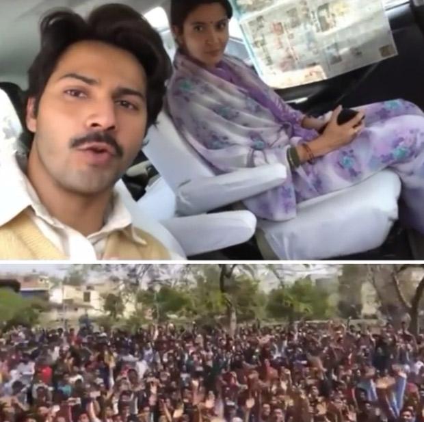 Sui Dhaaga: Varun Dhawan and Anushka Sharma shoot amidst massive fan frenzy in Bhopal