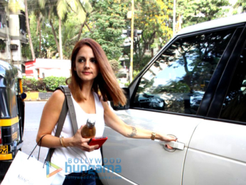 Sussanne Khan spotted at Kromakay salon in Juhu