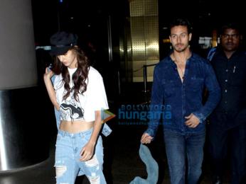 Tiger Shroff and Disha Patani snapped at the airport