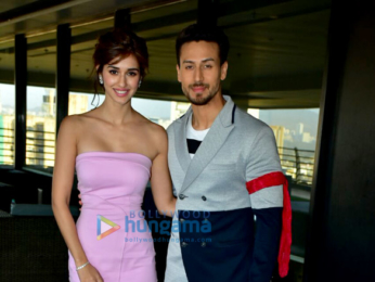 Tiger Shroff and Disha Patani snapped doing media interaction to promote Baaghi 2