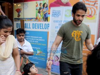 Tusshar Kapoor snapped with son Laksshya Kapoor in Mumbai