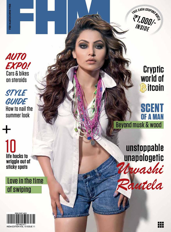 Lo & Behold! Urvashi Rautela in an open white shirt and hot pants looks beach ready on this mag cover (INSIDE pics)