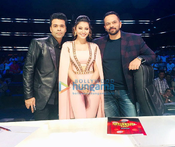 Urvashi Rautela spotted on the sets of India's Next Superstars