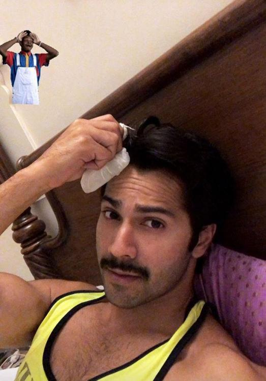Varun Dhawan assures he is fine, after suffering forehead injury on Sui Dhaaga - Made in India set