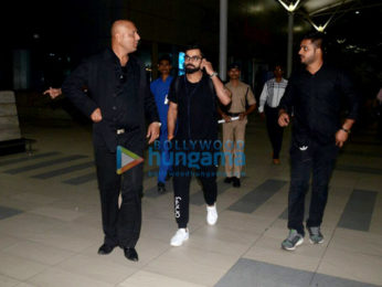 Virat Kohli snapped at the airport