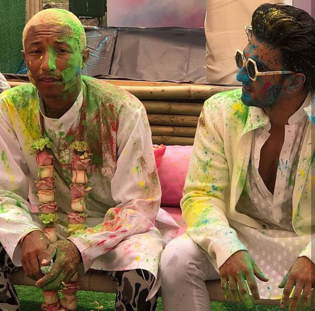 WATCH: Hollywood musician Pharrell Williams joins Ranveer Singh for Holi celebrations