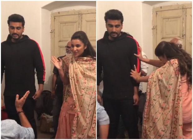 WATCH: Parineeti Chopra tries HARD to push Namaste England co-star Arjun Kapoo
