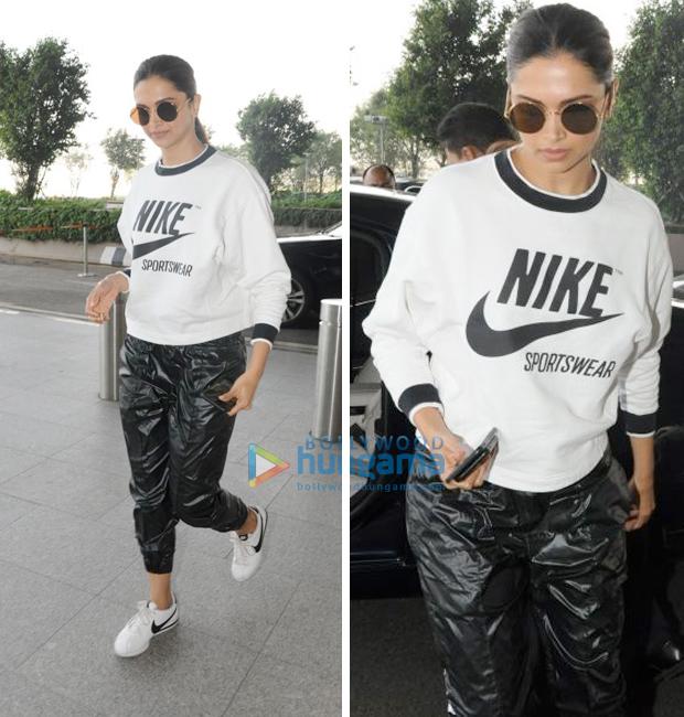 Weekly Airport Style: Deepika Padukone goes sporty chic in Nike
