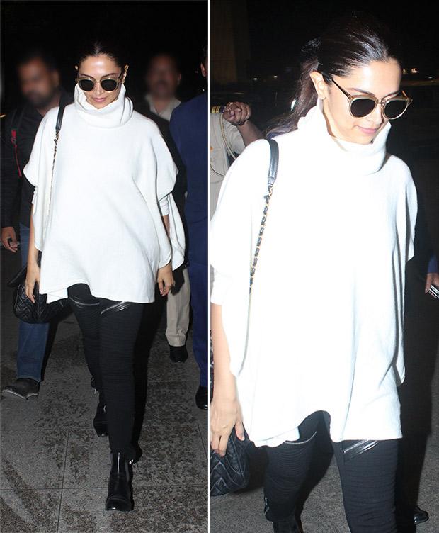 Weekly Airport Style: Deepika Padukone in monochrome casuals