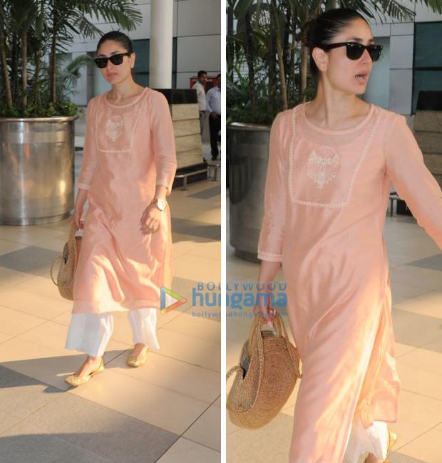 Weekly Airport Style: Kareena Kapoor Khan goes the desi way in pastel