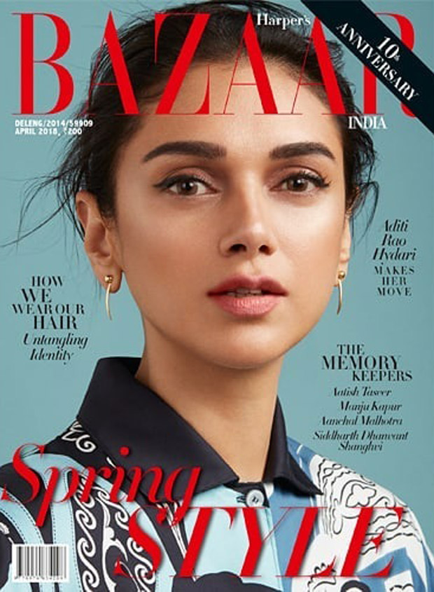Aditi Rao Hydari on Harper's Bazaar for April 2018
