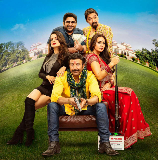 Bhayyaji Superhit is back! This new poster with Sunny Deol, Preity Zinta and Ameesha Patel is colourful and quirky