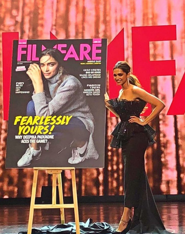 Deepika Padukone in Amit Aggarwal at Filmfare Middle East relaunch