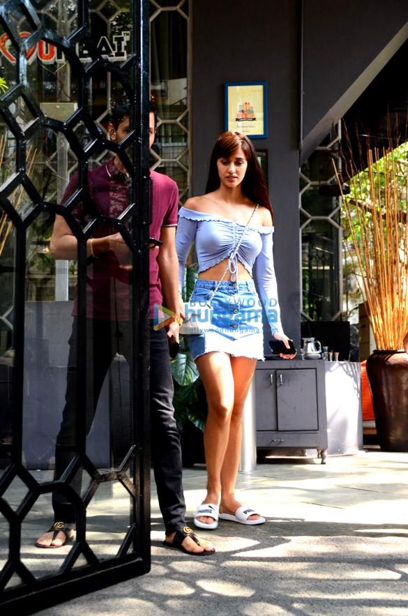 Disha Patani spotted at Korner House in Bandra