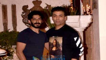Karan Johar, Sanjay Kapoor and others snapped at a party at Sonam Kapoor's house